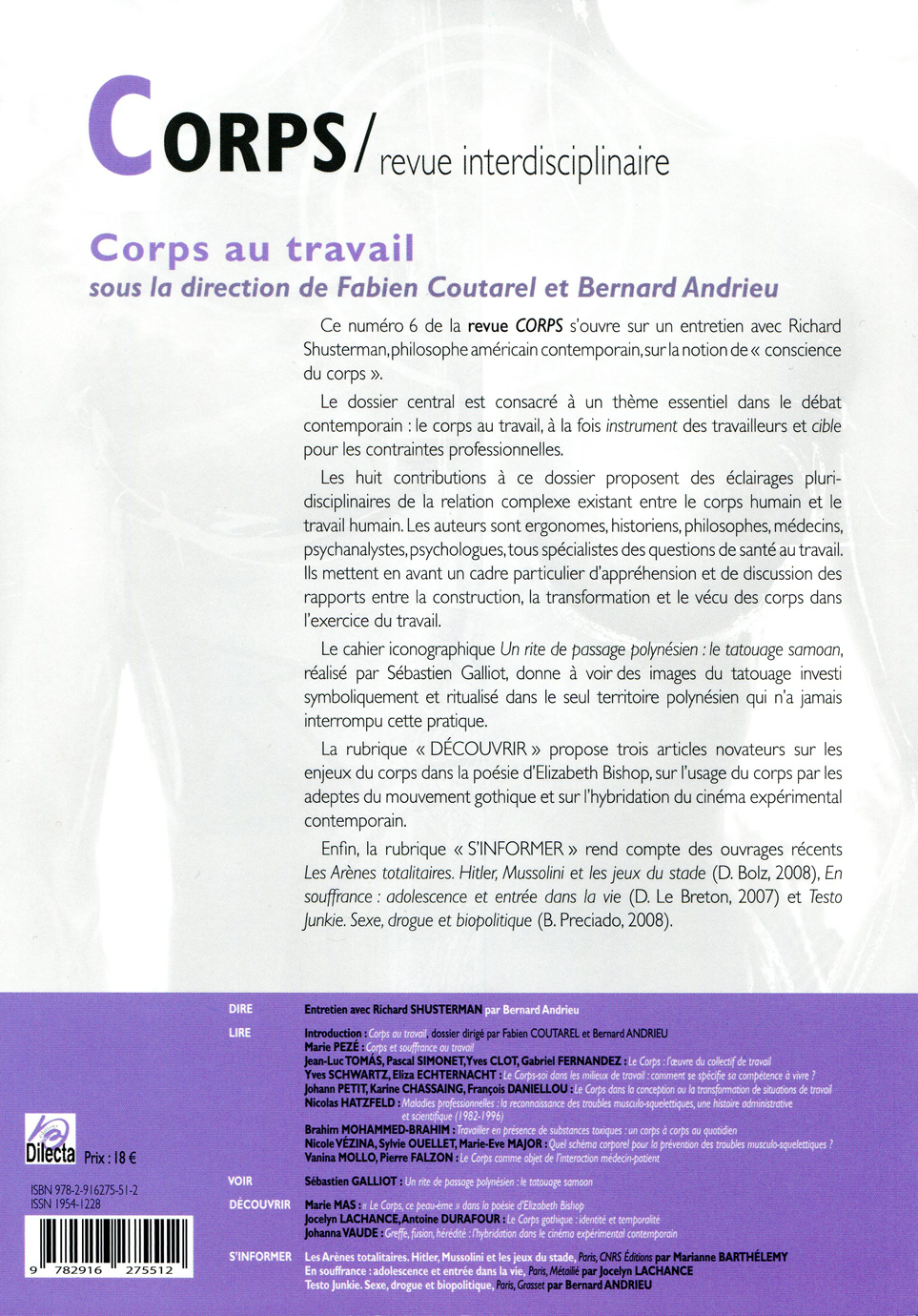 Johanna Vaude revue corps edition dilecta
