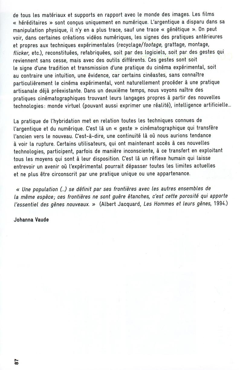 Hybridation carte blanche Johanna Vaude