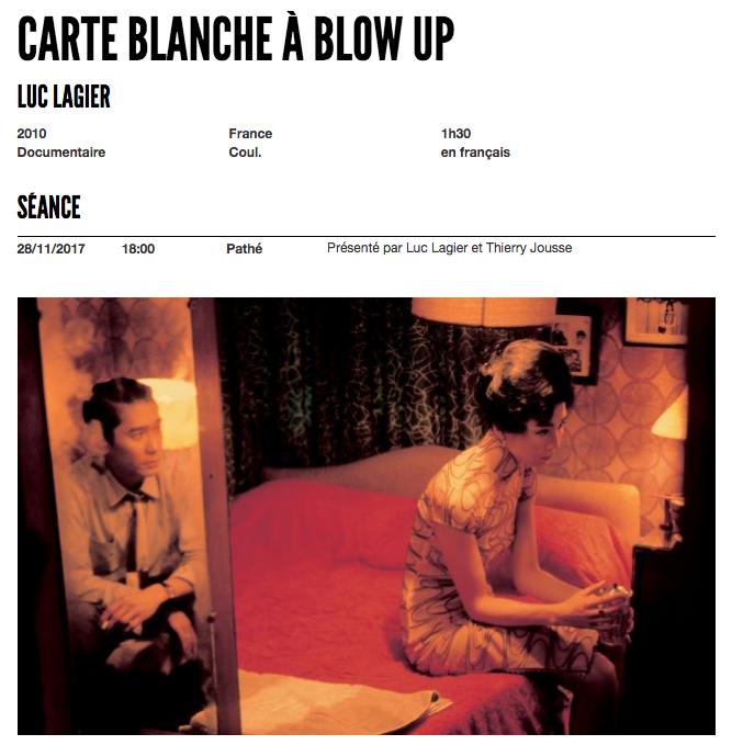 carte blanche blow up entrevues de belford